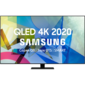 "Телевизор ЖК  Samsung 50"",  QLED,  Smart TV, Wi-Fi,  Voice,  PQI 3200,  DVB-T2 / C / S2,  40W,  4HDMI,  front CARBON SILVER,  stand TITAN BLACK"