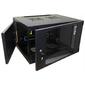 Шкаф настенный Lanmaster Next TWT-CBWNG-6U-6X4-BK 6U 550x450мм пер.дв.стекл съемные бок.пан. 60кг черный