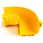 Горизонтальный поворот 90° оптического лотка 120 мм,  монтаж без соединителей,  желтый