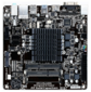 Материнская плата + процессор GIGABYTE GA-J1800N-D2H <Celeron J1800  (2.41Ghz,  2 ядра),  2xDDR3,  PCI-E + mini PCI-E,  2xSATA,  HDMI+ VGA,  2xPS / 2,  5xUSB,  3xAudio  (8Ch),  GLan> mini-ITX,  RTL