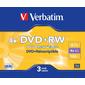 Диск DVD+RW 4.7ГБ 4x Verbatim 43636 120min Slim  (3шт. / уп.)