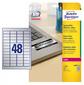 Этикетки Avery Zweckform L6009-20 A4 45.7x21.2мм 48шт на листе / 198г / м2 / 20л. / серебристый самоклей. для лазерной печати