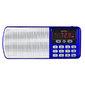 Perfeo радиоприемник цифровой ЕГЕРЬ FM+ 70-108МГц MP3 питание USB или BL5C цвет синий i120-BL