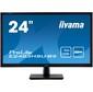 "Монитор жидкокристаллический Iiyama Монитор LCD 24"" 16:9 1920 х 1080 (FHD) TN,  nonGLARE,  250cd / m2,  170° / 160°,  1000:1,  80M:1,  16.7M,  1ms,  VGA,  HDMI,  DP,  USB-Hub,  Tilt,  Speakers,  3Y,  Black"