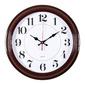 Часы настенные аналоговые Бюрократ WALLC-R85P D35см коричневый / белый