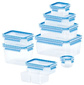 Набор контейнеров Emsa 515481 1л. пластик синий / прозрачный наб.:9пред.  (3100515481)