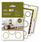 Этикетки Avery Zweckform Living 62008 47.5x73мм 1шт на листе / 70г / м2 / 5л. / белый самоклей. универсальная