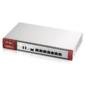 Межсетевой экран Zyxel VPN300,  Rack,  конфигурируемые GE порты 7xLAN и 1xSFP,  2xUSB3.0,  AP Controller  (4 / 132) с пониженным шифрованием