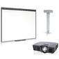 """Digis Интерактивная доска SMART Board 480  (диагональ 77""""  (195.6 cm), ПО SMART NOTEBOOK в комплекте) с проектором SMART V10 и креплением DSM-14Kw."""