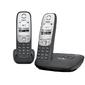 Р / телефон Gigaset A415 AM DUO  (автоответчик, 2 трубки,  черный)