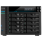 ASUSTOR AS7110T 10-Bay NAS / Media player / Intel Xeon E-2224  3.4GHz up to 4.6GHz (Quad-Core),  8GB SO-DIMM DDR4,  noHDD (HDD, SSD),  / 10x1GbE+3x2, 5Gbe (LAN) / 3xUSB3.2, HDMI / M.2 / 4ip camera license ; 90IX01D1-BW3S1