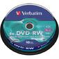 Диск DVD-RW 4.7ГБ 4x Verbatim 43552 пласт.коробка,  на шпинделе  (10шт. / уп.)