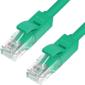 Greenconnect GCR-LNC05-1.0m, Патч-корд прямой 1.0m, UTP кат.5e, зеленый, позолоченные контакты, 24 AWG, литой, ethernet high speed 1 Гбит/с, RJ45, T568B