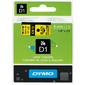 Картридж ленточный Dymo D1 S0720790 черный / желтый для Dymo