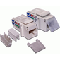 Модуль LANMASTER  (LAN-OK45U5E / 90-WH) Keystone. RJ45. кат.5E. UTP. 90 градусов.  со шторкой. белый