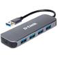 Разветвитель USB 3.0 D-Link DUB-1341 4порт. черный  (DUB-1341 / C1A)