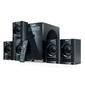 SVEN HT-200,  чёрный,  акустическая система 5.1,  мощность (RMS):20Вт+5х12 Вт,  FM-тюнер,  USB / SD,  дисплей,  ПДУ