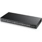 ZyXEL GS2210-48 Управляемый коммутатор Gigabit Ethernet с 48 разъемами RJ-45 из которых 4 совмещены с SFP-слотами и 2 дополнительными SFP-слотами