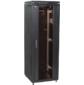 """Шкаф сетевой 19"""" LINEA N 18U 600х600 мм стеклянная передняя дверь черный"""