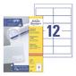 Этикетки Avery Zweckform 3659 A4 97x42.3мм 12шт на листе / 70г / м2 / 100л. / белый матовое самоклей. универсальная