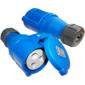 Вилка Lanmaster LAN-IEC-309-32A1P / F Вилка IEC 309 однофазная,  мама,  32A,  250V,  разборная,  синяя
