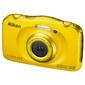 "Фотоаппарат Nikon CoolPix W100 желтый 13.2Mpix Zoom3x 2.7"" 1080p 22Mb SDXC / SD / SDHC CMOS 1x3.1 5minF HDMI / KPr / DPr / WPr / FPr / WiFi / EN-EL19"