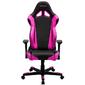 DXRacer OH/RE0/NP_ Компьютерное кресло игровое Racing series, цвет черный с пурпурными вставками, нагрузка 120кг. Мятая упаковка!