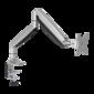 ONKRON G100 SILVER Кронштейн для мониторов 13-32'' ГАЗЛИФТ макс 100х100 наклон -90 / +90,  поворот +-90°,  2 колена,  от стены: до 525мм,  крепление к столу 10-85мм,  вес до 9кг,  серебро