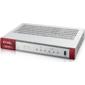 Zyxel ZyWALL USG FLEX 100 firewall with 1 year subscription set  (AS,  AV,  CF,  IDP),  2xWAN GE  (1xRJ-45 and 1xSFP),  4xLAN  /  DMZ GE,  1xUSB3.0,  AP Controller  (8 / 24)