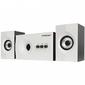 Акустическая система 2.1 CROWN CMS-350  ( Белая лицевая панель; МДФ,  15W+10WX 2=35W, Длина кабеля питания и аудио кабеля 2м;, Управление: питание,  громкость,  басс,  высокие частоты.)
