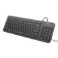 Trust Keyboard Muto,  Silent  USB,  Black [23408]