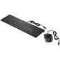 Клавиатура + мышь HP Pavilion 400 клав:черный мышь:черный USB slim