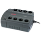 APC Back-UPS ES 400VA / 240W,  230V,  8 Schuko outlets  (4 Surge & 4 batt.),  Data / DSL protection,  user repl. batt.,  3 year warranty