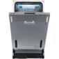 """Встраиваемые посудомоечные машины Korting /  Полновстр.,  45 см,  10 компл.,  слайдерное крепление двери для фасадов высоких кухонь,  третья корзина для столовых приборов,   А++ / A / A,  Электронное управление,  цифровой LED дисплей белого цвета Cold White,  5 программ,  Автоматическая программа,  Активная сушка,  Отложенный старт: 1-24 часа,  Разбрызгиватели S-Form,  Потолочный разбрызгиватель,  Регулировка высоты корзины Easy Lift,  половинная загрузка,  Использование средств """"All in one"""",  Система полной защиты от"""