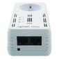 Upvel UA-252PS Powerline HomePlug AV 500 Мбит / с адаптер с поддержкой IP-TV,  встроенной розеткой и двумя LAN-портами