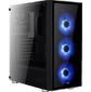 Корпус Aerocool Quartz Blue,  ATX,  без БП,  закаленное стекло спереди и сбоку,  3x 12см LED  (синий),  1х 120мм  (черный) в комплекте,  1xUSB 3.0,  2xUSB 2.0