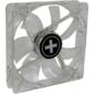 XILENCE Performance C case fan,  XPF120.TBL,  120mm,  Hydro bearing,  Small 3 PIN + Big 4 PIN,  transparent blue LED