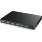 Управляемый PoE-коммутатор Gigabit Ethernet с 48 разъемами RJ-45 из которых 4 совмещены с SFP-слотами и 2 дополнительными SFP-слотами