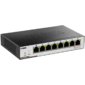 D-Link DGS-1100-08PD / B1A,  L2 Smart Switch with 7 10 / 100 / 1000Base-T ports and 1 10 / 100 / 1000Base-T PD port. 8K Mac address,  802.3x Flow Control,  Port Trunking,  Port Mirroring,  IGMP Snooping,  32 of 802.