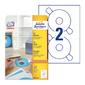 Этикетки Avery Zweckform CD / DVD L6015-25 A4 / 196г / м2 / 50л. / белый самоклей. для лазерной печати