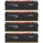 Память оперативная Kingston 64GB 3000MHz DDR4 CL15 DIMM  (Kit of 4) HyperX FURY RGB