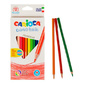 "Набор цветных треугол карандашей ""Carioca"" UNIVERSAL 12шт,  картон коробка + точилка"