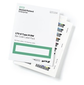 HPE Bar code label pack  (100 data + 10 cleaning) for Q2078A  (for libraries & autoloaders)