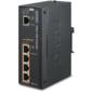 IPOE-E174 индустриальный PoE экстендер IP30 Industrial 1-Port 60W Ultra POE to 4-Port 802.3af / at Gigabit POE Extender  (-40 to 75 C)