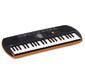 CASIO SА-76  (44 мини-клавиши,  100тон,  50ритм,  10 пьес,  5 ударн.пэдов,  2х0.8Вт,  оранжевый)