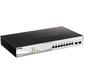 D-Link DGS-1210-10MP / F1A Настраиваемый коммутатор WebSmart с 8 портами 10 / 100 / 1000Base-T и 2 портами 1000Base-X SFP  (8 портов с поддержкой PoE 802.3af / 802.3at  (30 Вт),  PoE-бюджет 130 Вт)