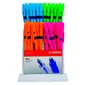 Набор шариковых ручек Stabilo 808FL / 8041 Liner 0.38мм флуорис.корп. ассорти синие чернила  (80шт)