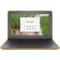 HP Chromebook 11 G6 Celeron N3350,  4GB,  32гб SSD,  11.6 HD AG SVA,  Chalkboard Gray  kbd TP,  Intel 7265 AC 2x2 nvP +BT 4.2,  Delicate Orange Textured,  Chrome 64,  1yw