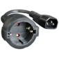 Adaptor CyberPower EX10015BKC14-DE IEC C13 - Schuko 10А