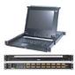 SINGLE RAIL 8P PS / 2-USB LCDKVMP 17INCH